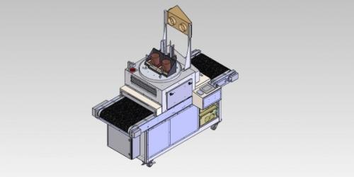 Custom flat line conveyor UV curing systems